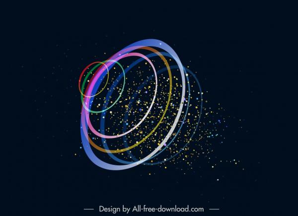decorative background modern sparkling circles bursting motion