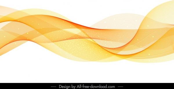 decorative background sparkling modern waving dynamic 3d shapes