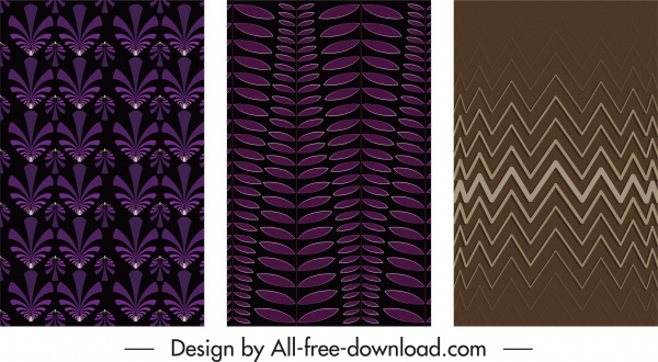 decorative background templates dark repeating flat symmetric decor