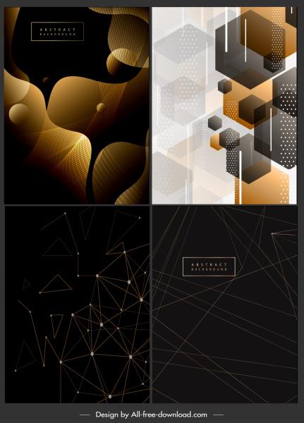 decorative background templates modern abstract geometric decor
