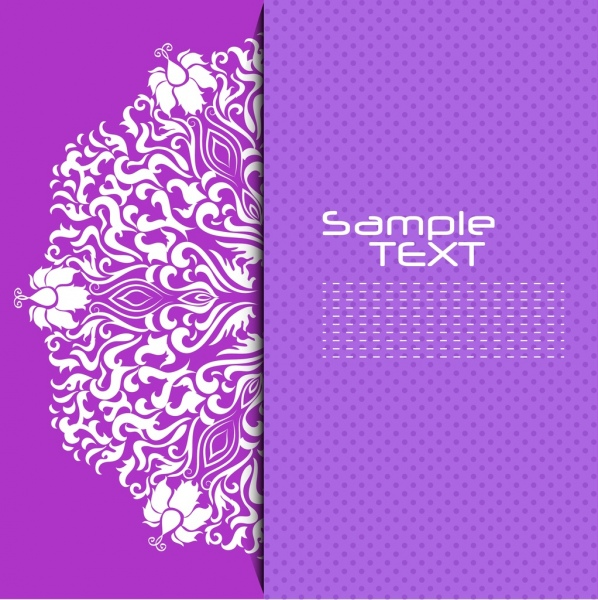 decorative background violet design curved symmetric lines