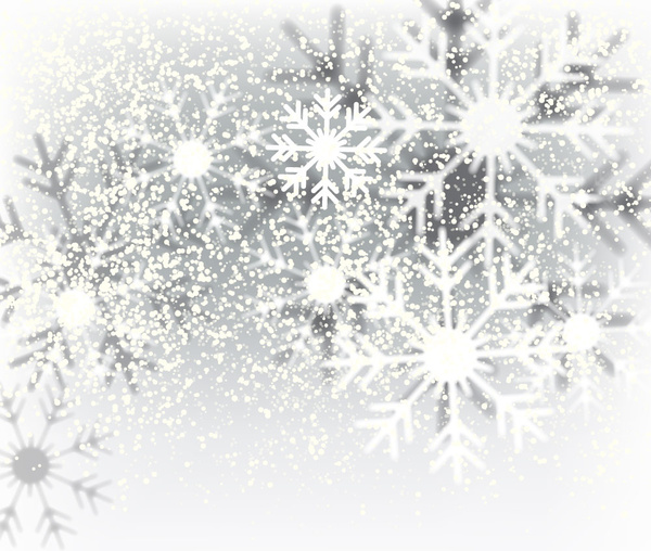 decorative christmas background with snowflakes crystals free vector