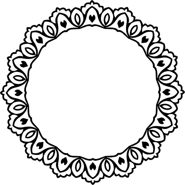 decorative circle design with vintage abstract border free vector in