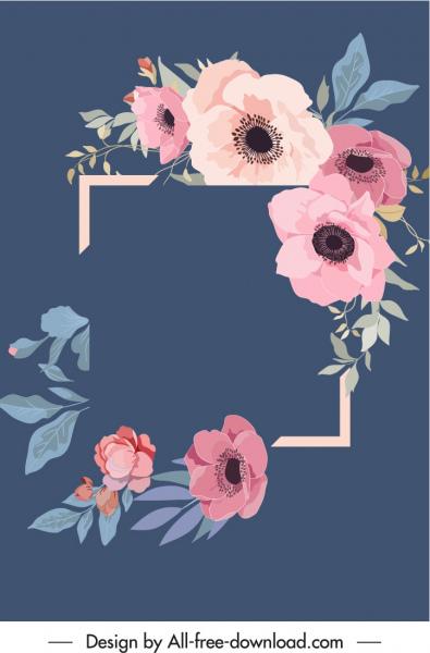 decorative flowers background elegant vintage design
