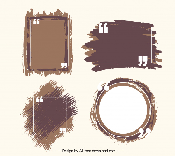 decorative frames templates classical grunge geometric shapes