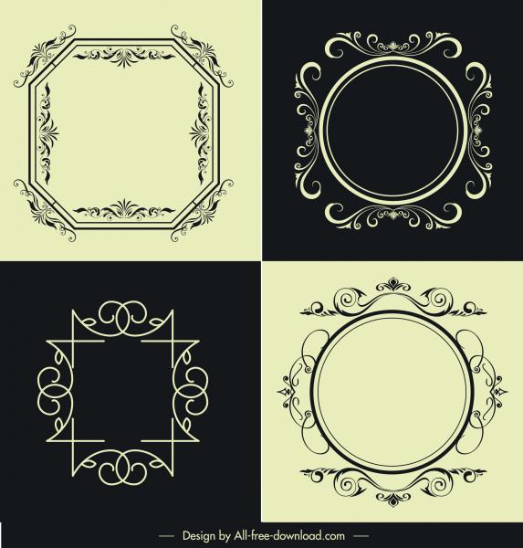 decorative frames templates european symmetric design retro decor