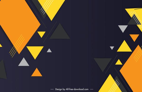 decorative geometric background modern colorful flat triangles sketch