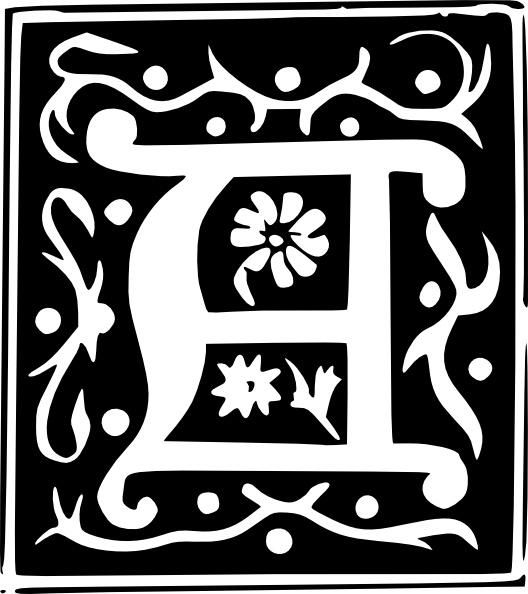 Decorative Letter Set A clip art