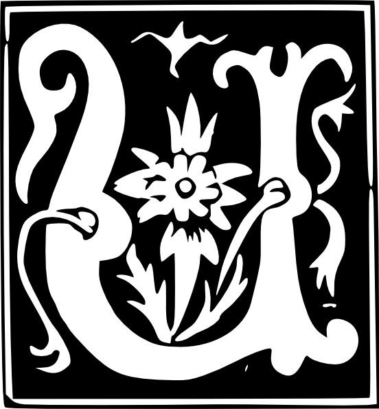 Decorative Letter A.Decorative Letter U Set Clip Art Free Vector In Open Office