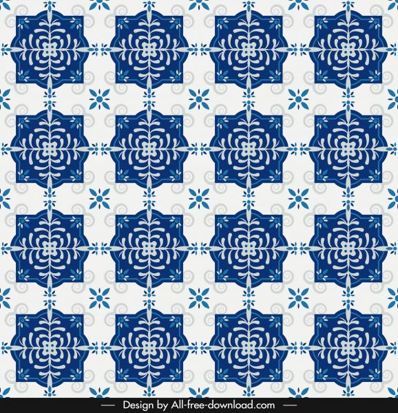 decorative pattern classical repeating symmetric design blue decor