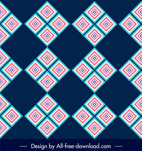 decorative pattern delusive geometric decor colored flat design