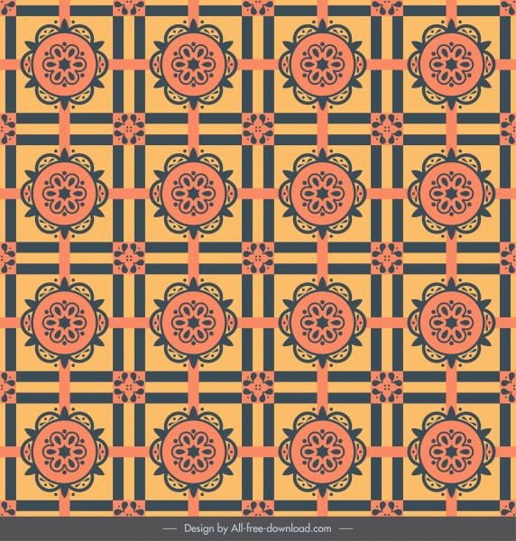 decorative pattern elegant retro repeating symmetric design