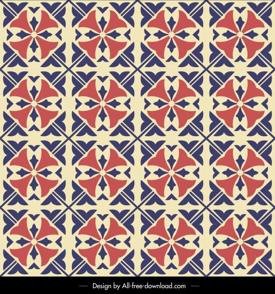 decorative pattern flat symmetrical retro repeating design