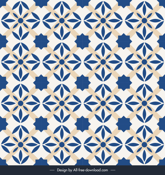 decorative pattern retro repeating symmetrical flat sketch