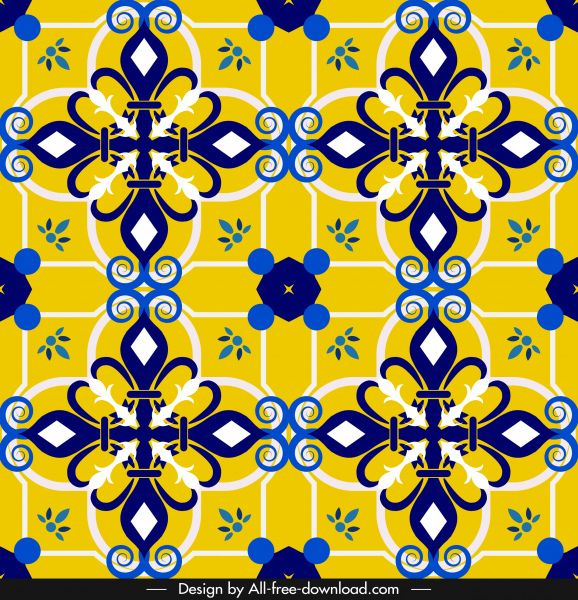 decorative pattern template classical eurpean elegant symmetric design