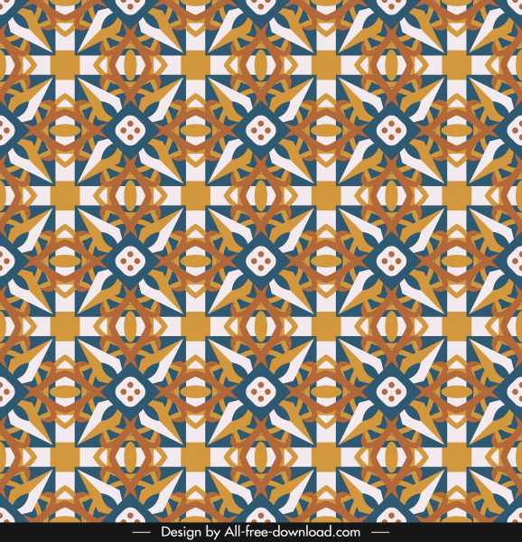decorative pattern template colorful classical repeating symmetrical design
