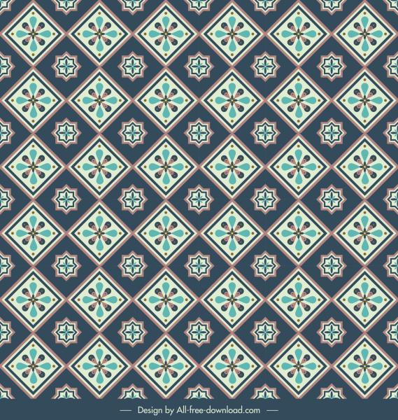 decorative pattern template flat classical repeating petals decor