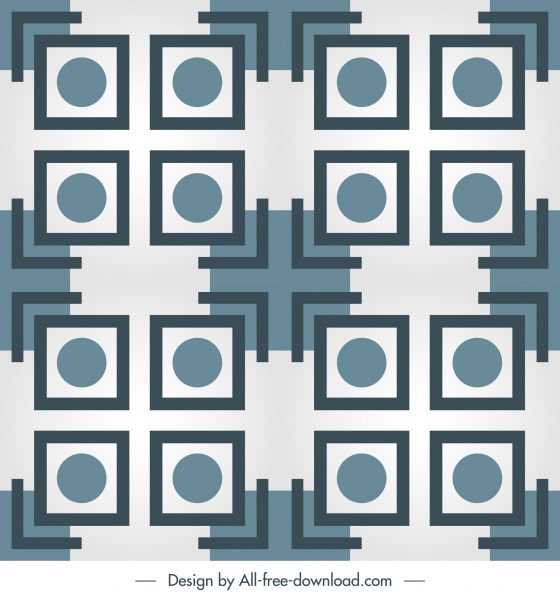decorative pattern template flat symmetric geometry repeating sketch