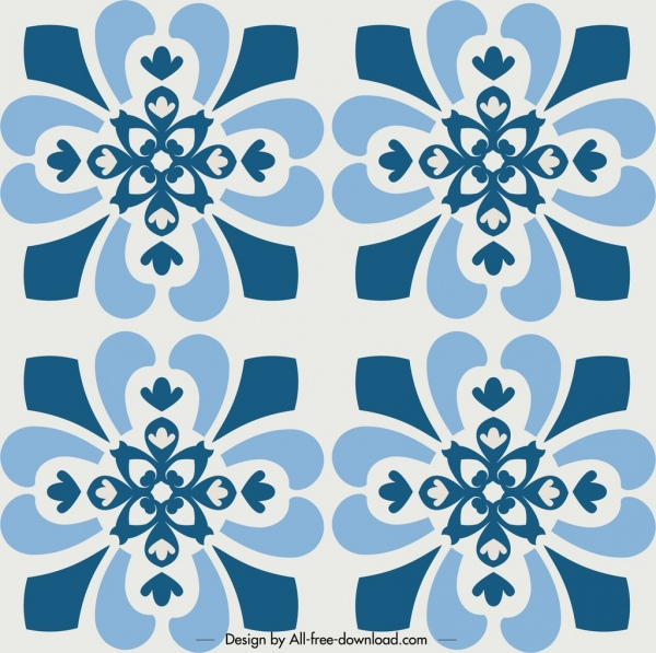 decorative pattern template repeating classical flowers decor