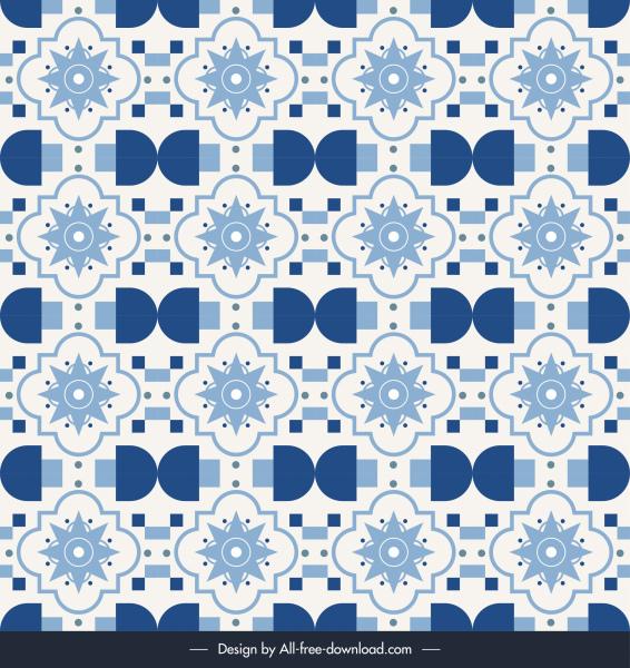 decorative pattern template repeating petals flat classical design