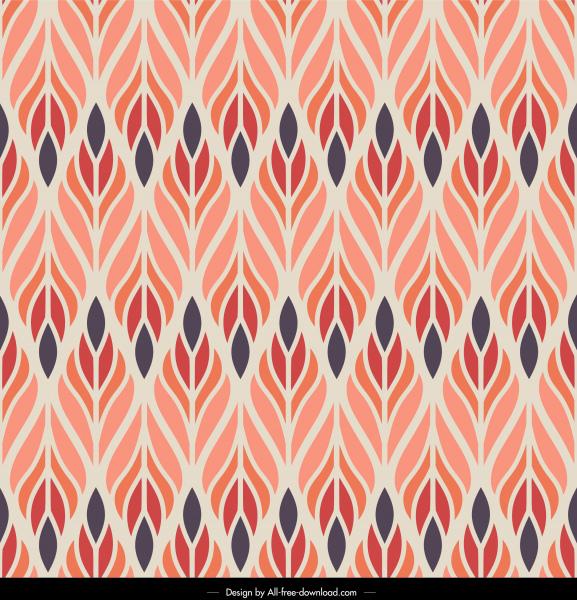 decorative pattern template symmetric flat leaves decor