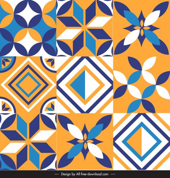 decorative pattern templates elegant colorful flat classic symmetric