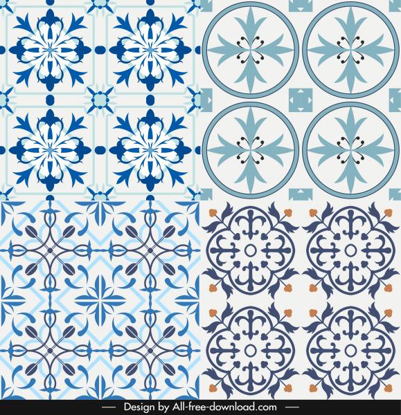 decorative pattern templates flat classical symmetric repeating decor
