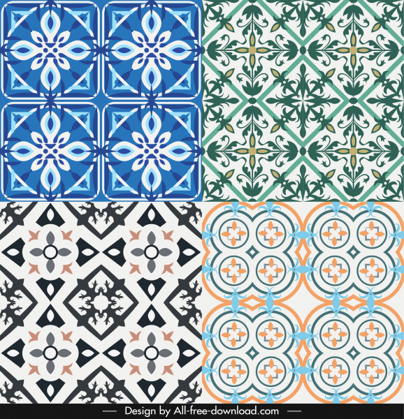 decorative pattern templates symmetrical repeating illusion decor