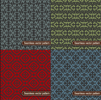 decorative vintage floral seamless vector pattern