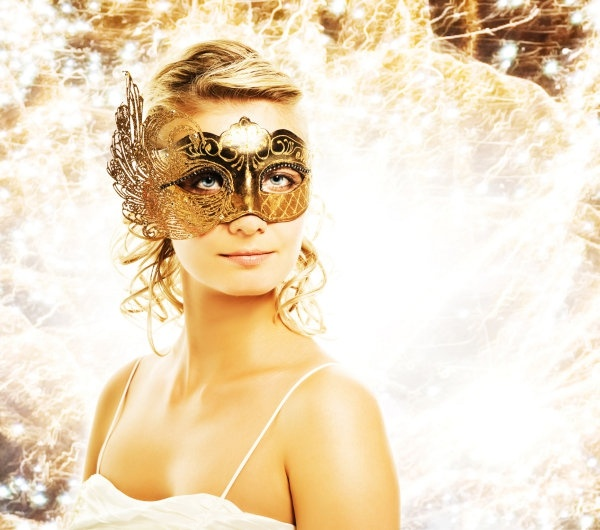definition picture of a woman wearing a mask 3