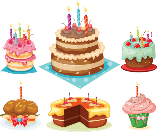 Birthday Cake With Candles Clip Art Free Vector Download