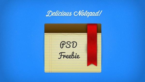 Delicious Notepad & Ribbon PSD