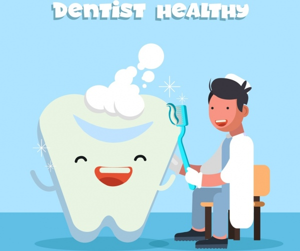 dentistry background dentist stylized tooth icons decor