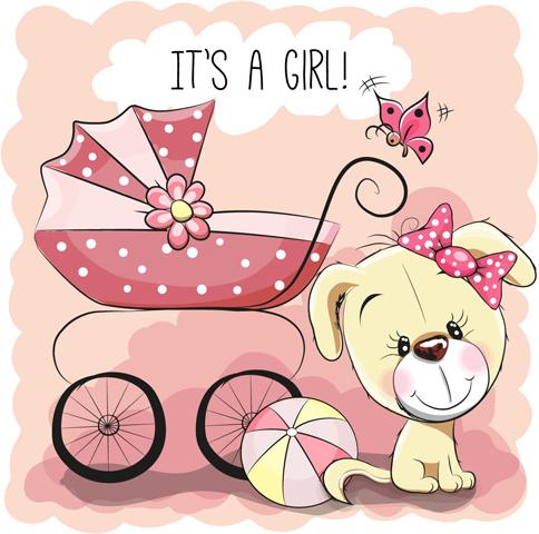 design cute baby cards vectors set