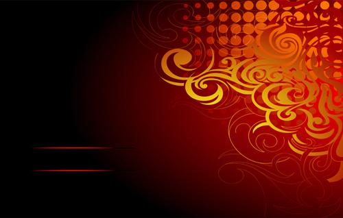 design element ornament floral background vector