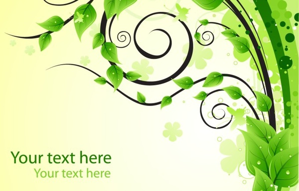 nature background leaves tree icon curved green decor