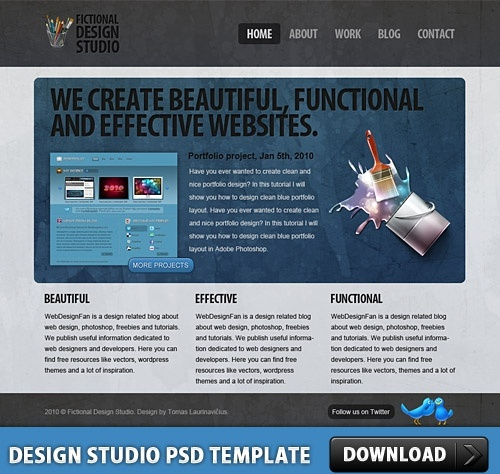 Design Studio Free PSD Template