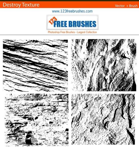 destroy texture brush