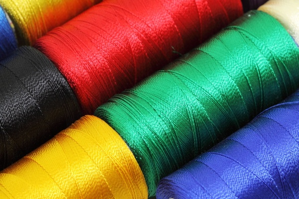 detail of sewing thread