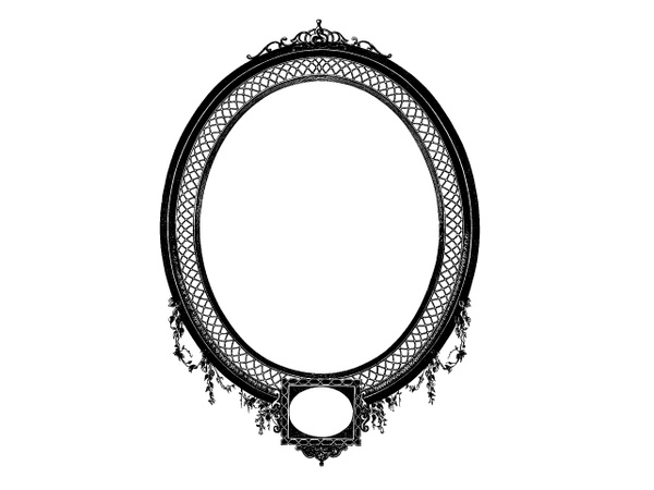 Detailed Decorative Oval Frame Free Vector In Encapsulated