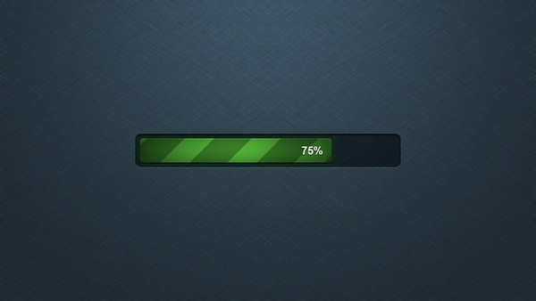 Detailed Progress Bar PSD