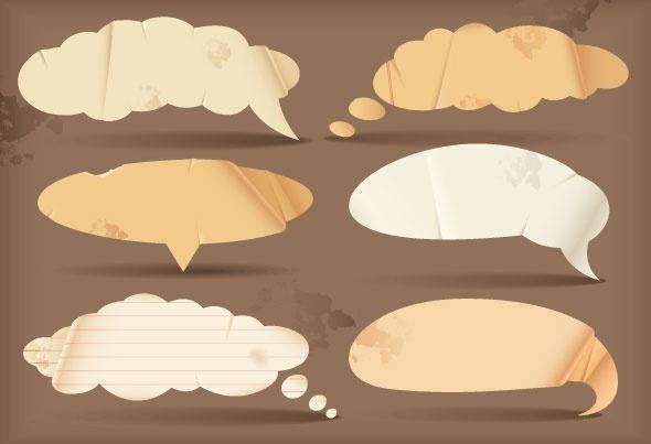 dialogue bubble paper vector 2