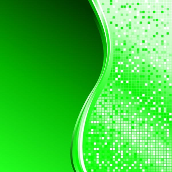 abstract background sparkling bokeh green curves decor