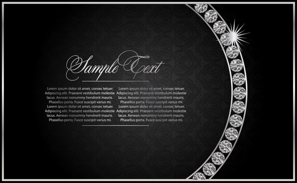 decorative background black white luxury sparkling diamond gems