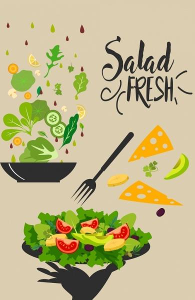 diet banner fresh vegetable food decoration