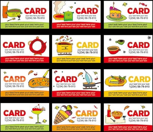 diet class lovely card template vector