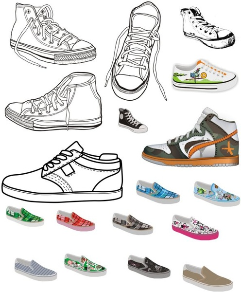 a1a2d049bf Different canvas shoes elements vector Free vector in Coreldraw cdr ...
