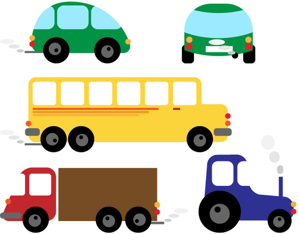 Different Cartoon Car Design Vector Free Vector In Encapsulated