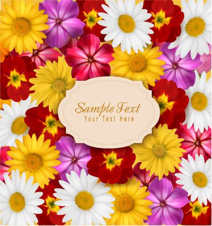 different flower seamless pattern background vector