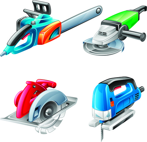different power tools vector graphics